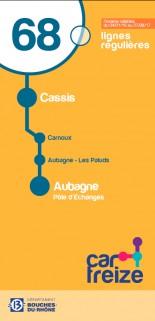 Schedules bus 68 Aubagne Carnoux Cassis 2017
