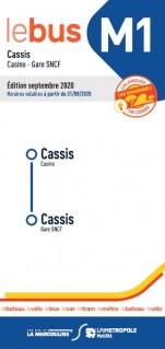 Fahrplan bus M1 Marcouline Cassis Casino-Bahnhof SNCF 2020